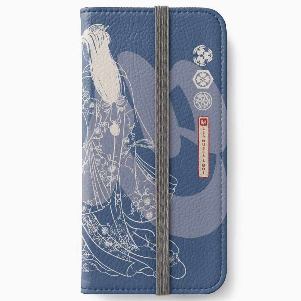 Étui portefeuille iPhone « Heart-Geisha»