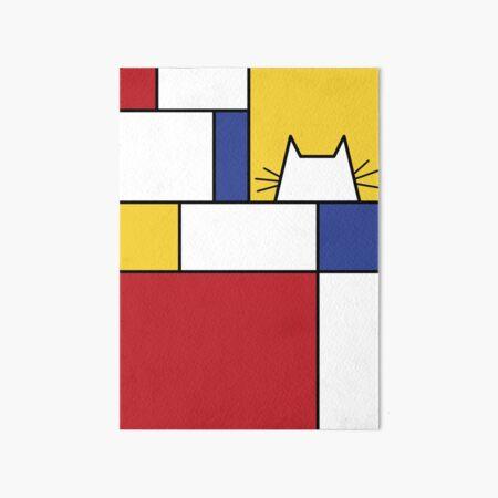 Mondrian Cat Art Board Print