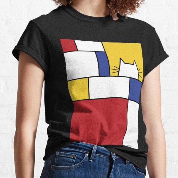 Gato de Mondrian Camiseta clásica