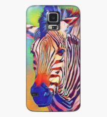 Zsa Zsa das bunte Zebra Hülle & Klebefolie für Samsung Galaxy