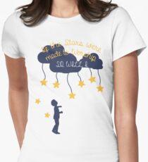 Camiseta entallada para mujer Si las estrellas fueron hechas para adorar, así lo haré yo.