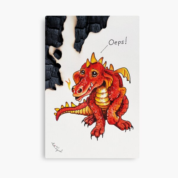 Dragon by Maria Tiqwah Canvas Print