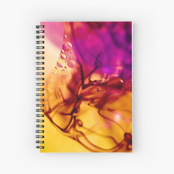 Ink Abstract Spiral Notebook