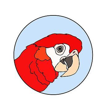 Scarlet Macaw by nolessjess