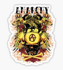 Eagle skulls Anarchy Sticker