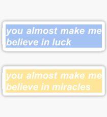 luck / miracles set Sticker