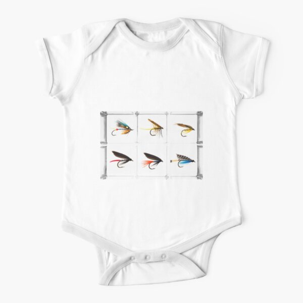 Fly Fishing Lure Short Sleeve Baby One-Piece