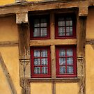 Colorful twisted yellow window by MaluC