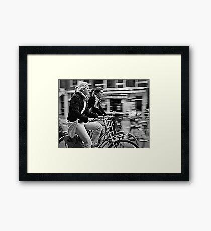 we surf Framed Print