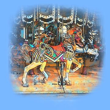 Watercolor Effect Carousel Horse by Greenbaby