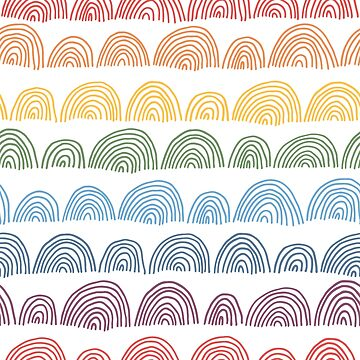 Rainbow abstract colorful pattern by nastybo