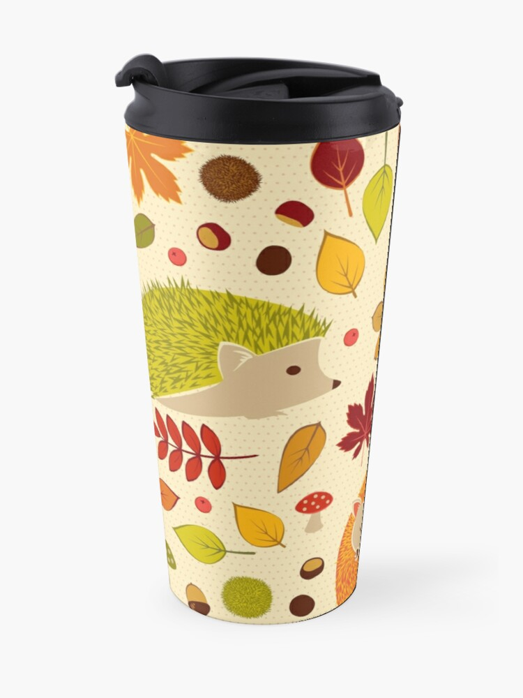 Alternate view of Hedgehogs and Chestnuts Travel Mug