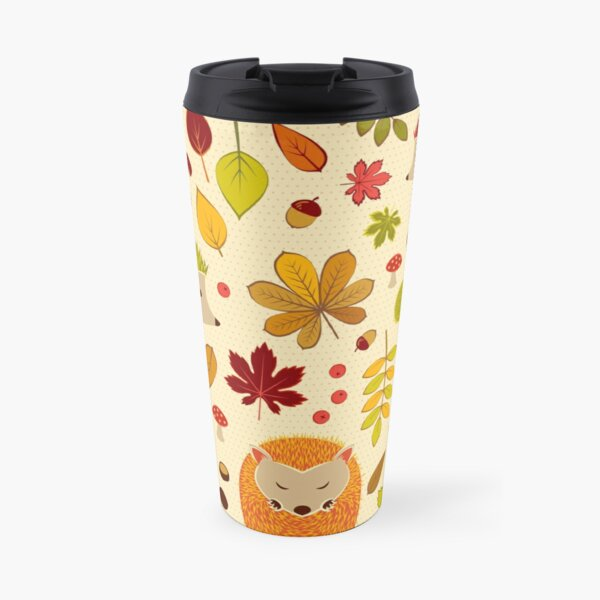 Hedgehogs and Chestnuts Travel Mug