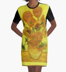 Van Gogh - Vierzehn Sonnenblumen, 1889 T-Shirt Kleid