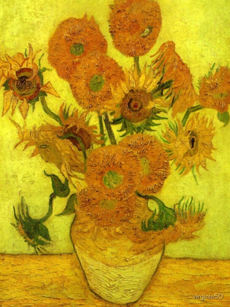 Van Gogh - Fourteen Sunflowers, 1889, famous painting by virginia50