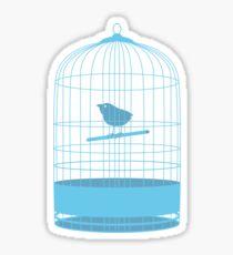 bird in cage Sticker