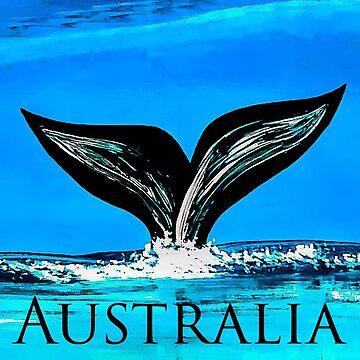Australia whale by barryknauff