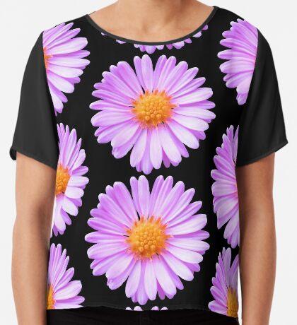 wunderschöne, pinke Blume, Blüte, pink, Sommer Chiffontop für Frauen