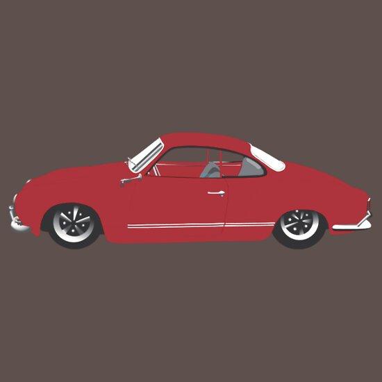TShirtGifter presents: Red Karmann Ghia