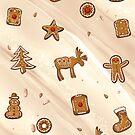 Lebkuchen Muster, Weihnachtsplätzchen, Plätzchen von Christine Krahl