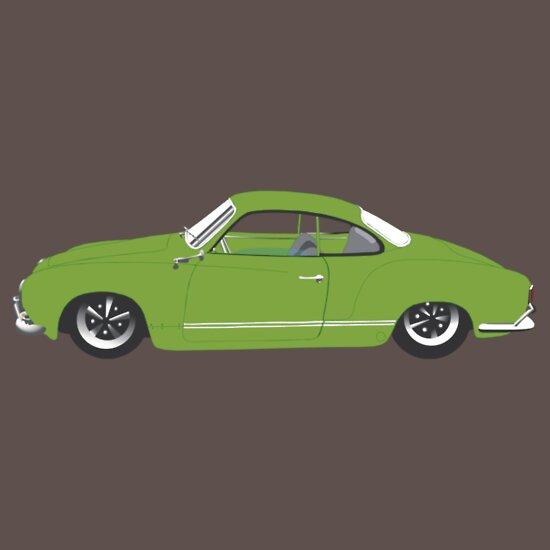 TShirtGifter presents: Green Karmann Ghia Tshirt