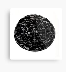 Northern Hemisphere stars and constellation sky map  Metal Print