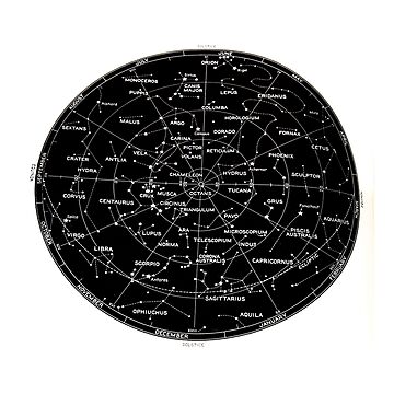 Southern Hemisphere stars and constellation sky map  by PhotoStock-Isra