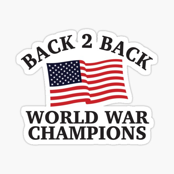 Back 2 Back Champs - 2 Sticker