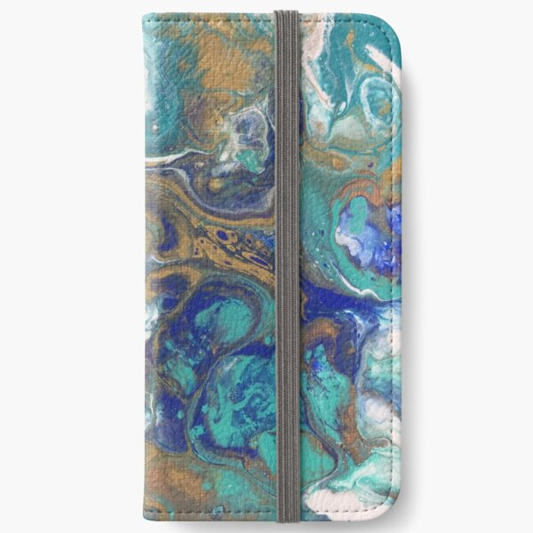 Acrylic Pour Art iPhone Wallet