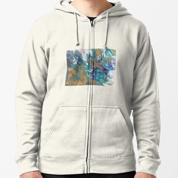 Acrylic Pour Art Zipped Hoodie