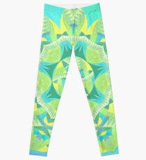 Grasshopper Katydid Leaves and Fauna Fall Into Winter Collection by Green Bee Mee Leggings