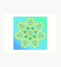 Grasshopper Katydid Leaves and Fauna Fall Into Winter Collection by Green Bee Mee Art Print