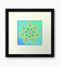 Grasshopper Katydid Leaves and Fauna Fall Into Winter Collection by Green Bee Mee Framed Print