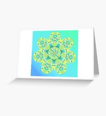 Grasshopper Katydid Leaves and Fauna Fall Into Winter Collection by Green Bee Mee Greeting Card