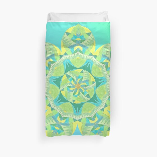 Grasshopper Katydid Leaves and Fauna Fall Into Winter Collection by Green Bee Mee Duvet Cover