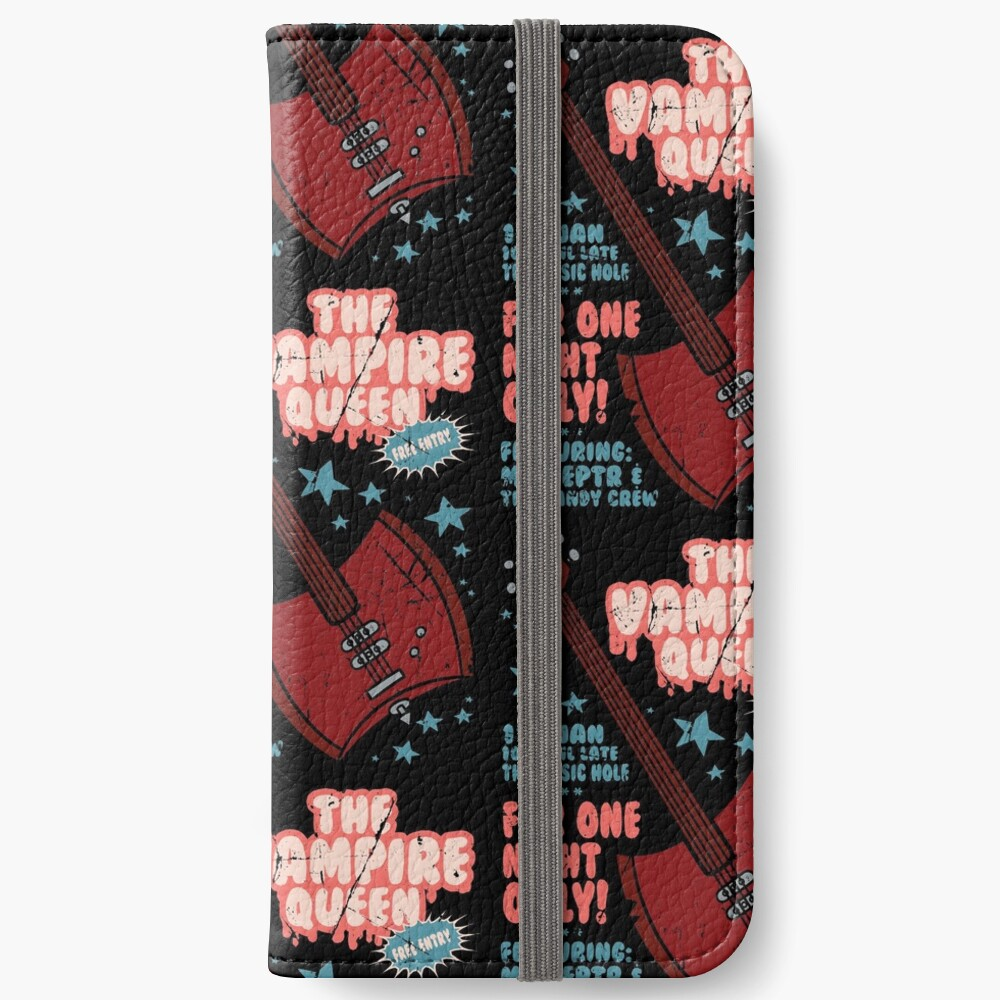 The Vampire Queen Music Poster iPhone Wallet