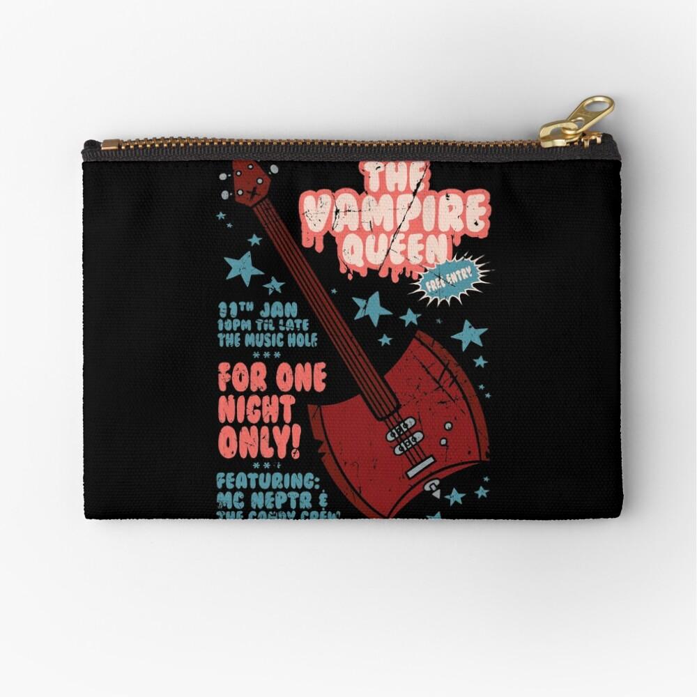 The Vampire Queen Music Poster Zipper Pouch
