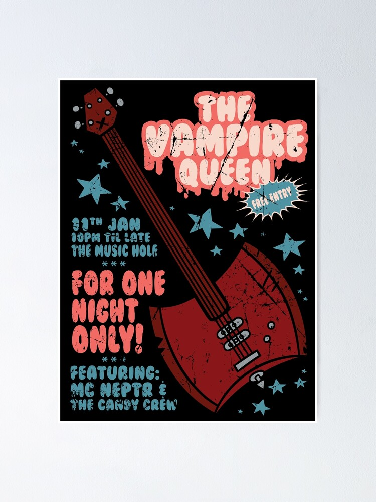 Alternate view of The Vampire Queen Music Poster Poster