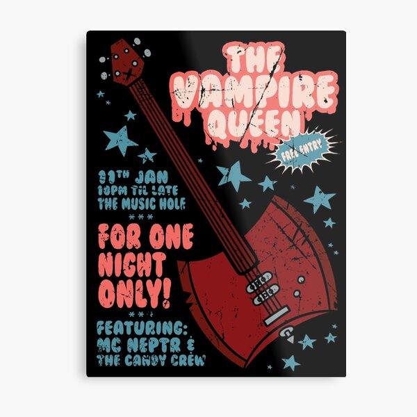The Vampire Queen Music Poster Metal Print