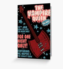 The Vampire Queen Music Poster Greeting Card