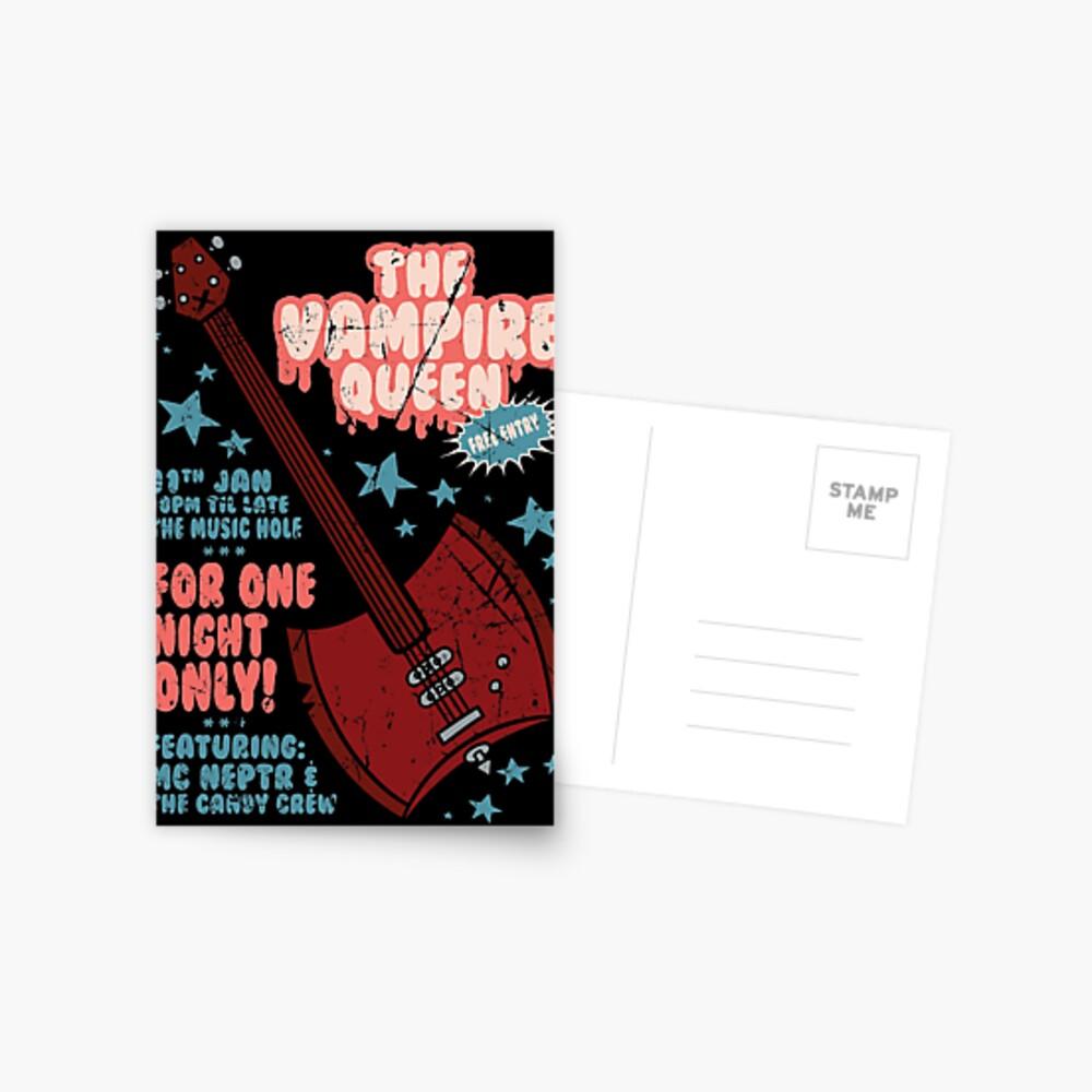 The Vampire Queen Music Poster Postcard