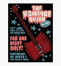 The Vampire Queen Music Poster Photographic Print