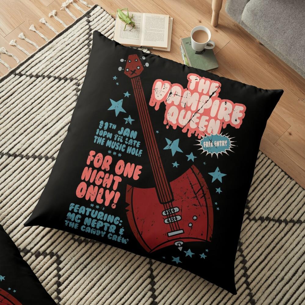 The Vampire Queen Music Poster Floor Pillow