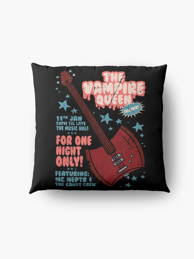 Alternate view of The Vampire Queen Music Poster Floor Pillow