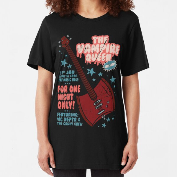 The Vampire Queen Music Poster Slim Fit T-Shirt