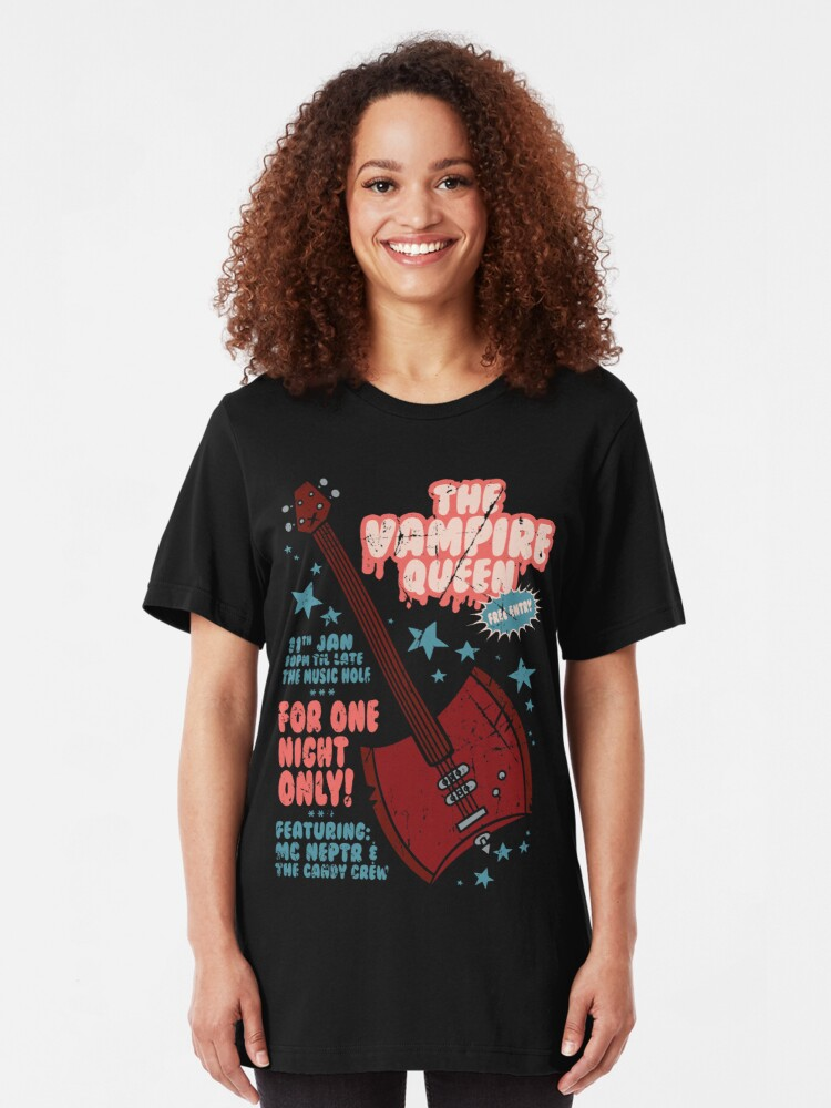 Alternate view of The Vampire Queen Music Poster Slim Fit T-Shirt