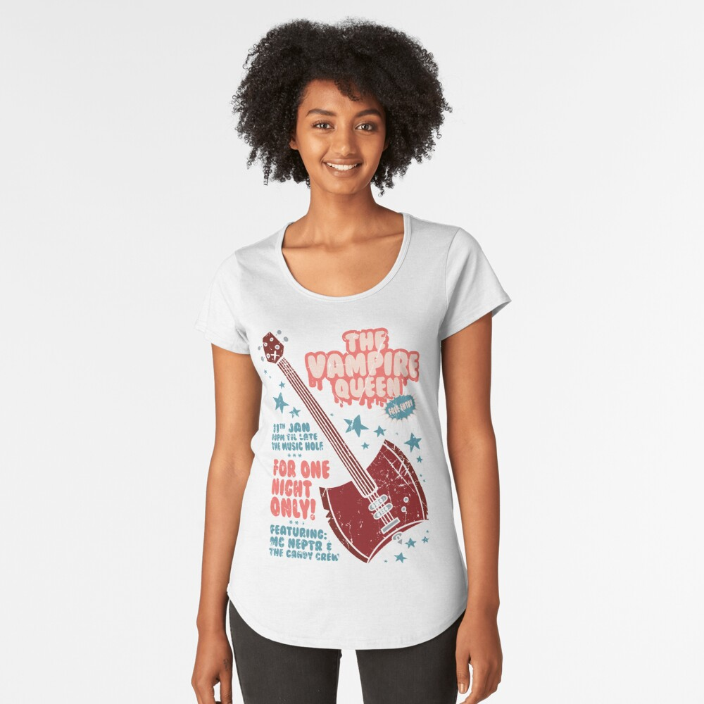 The Vampire Queen Music Poster Premium Scoop T-Shirt