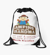 Camping Granny. Drawstring Bag