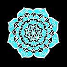 Lovely Sky Blue Mandala Flower by julieerindesign