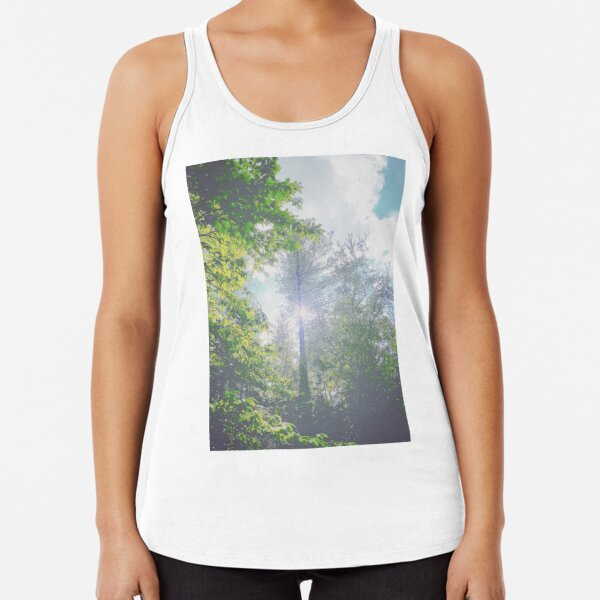 Countryside, Lakes & Forest C155d Racerback Tank Top